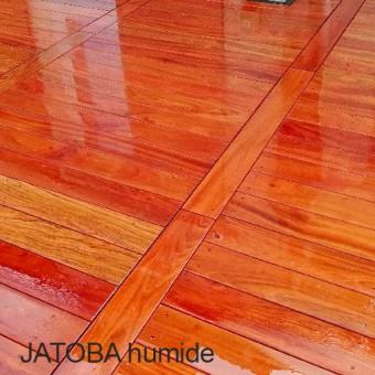 Lame de terrasse Jatoba 1 face lissse 2 chanfreins longueur 1,25m